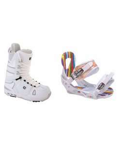 Burton Hail Snowboard Boots w/ Burton Lo-Back Bindings White