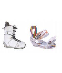 Burton Hail Snowboard Boots w/ Burton Lo-Back Bindings White