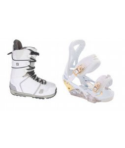 Burton Hail Snowboard Boots w/ Burton P1.1 Bindings White/Gold