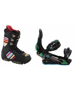 Burton Sabbath Snowboard Boots w/ Rome S90 Bindings Blue/Green