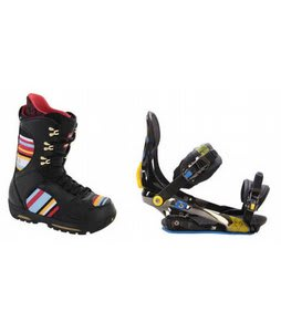 Burton Sabbath Snowboard Boots w/ Rome S90 Bindings Blue/Yellow