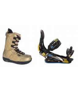 Burton Shaun White Snowboard Boots w/ Rome S90 Bindings Blue/Yellow