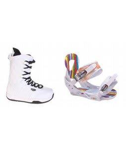 Burton Shaun White Snowboard Boots w/ Burton Lo-Back Bindings White
