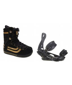 Burton Stumpy Snowboard Boots w/ Burton P1.1 Bindings Blac