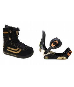 Burton Stumpy Snowboard Boots w/ Morrow Invasion Bindings Black
