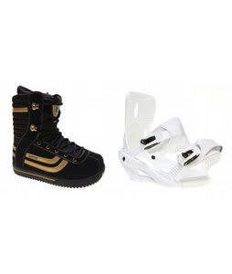 Burton Stumpy Snowboard Boots w/ Sapient Zeta Bindings White