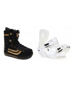 Burton Stumpy Snowboard Boots w/ Sapient Zeta Bindings White