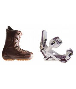 Burton XIII Snowboard Boots w/ Technine Mfm Pro Bindings Sand