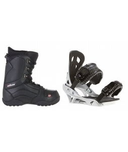 House Transition Snowboard Boots w/ Arctic Edge Team Bindings Silver