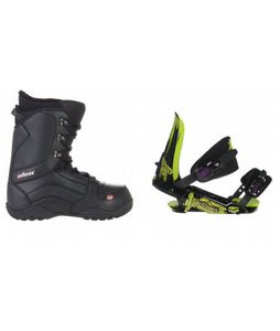 House Transition Snowboard Boots w/ Rossignol Viper V1 Bindings Black/Lime