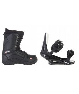 House Transition Snowboard Boots w/ Sapient Slopestyle Bindings Black