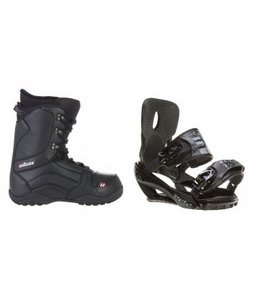 House Transition Snowboard Boots w/ Sapient Stash Bindings Black/Charcoal
