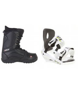 House Transition Snowboard Boots w/ Sapient Stash Bindings White