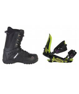 Sapient Method Snowboard Boots w/ Rossignol Viper V1 Bindings Black/Lime