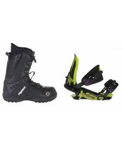 Sapient Method Speed Lace Snowboard Boots w/ Rossignol Viper V1 Bindings Black/Lime