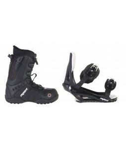 Sapient Method Speed Lace Snowboard Boots w/ Sapient Slopestyle Bindings Black