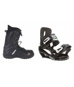 Sapient Method Speed Lace Snowboard Boots w/ Sapient Stash Bindings Black
