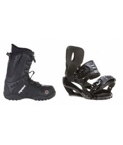 Sapient Method Speed Lace Snowboard Boots w/ Sapient Stash Bindings Black/Charcoal