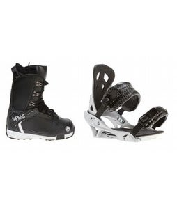 Sapient Yeti Snowboard Boots w/ Arctic Edge Team Bindings Silver