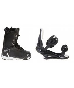 Sapient Yeti Snowboard Boots w/ Sapient Slopestyle Bindings Black
