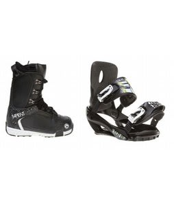 Sapient Yeti Snowboard Boots w/ Sapient Stash Bindings Black