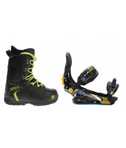 Sapient Yeti Snowboard Boots w/ Rome S90 Bindings Blue/Yellow