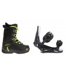 Sapient Yeti Snowboard Boots w/ Sapient Slopestyle Bindings Black
