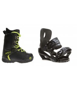 Sapient Yeti Snowboard Boots w/ Sapient Stash Bindings Black/Charcoal