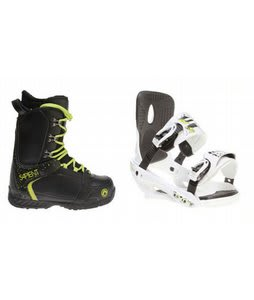 Sapient Yeti Snowboard Boots w/ Sapient Stash Bindings White