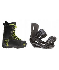 Sapient Yeti Snowboard Boots w/ Sapient Wisdom Bindings Black