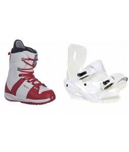 Burton Freestyle Snowboard Boots w/ Sapient Zeta Bindings White