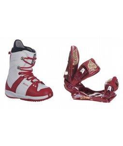 Burton Freestyle Snowboard Boots w/ Technine Suerte Bindings Maroon