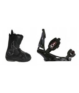 Burton Iroc Snowboard Boots w/ Burton Escapade Bindings Black Widow