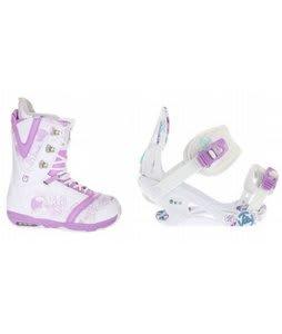 Burton Lodi Snowboard Boots w/ K2 Kat Bindings White