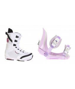 Burton Lodi Snowboard Boots w/ Morrow Slider Bindings Lavender