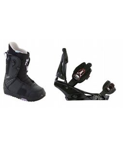 Burton Mint Snowboard Boots w/ Burton Escapade Bindings Black Widow
