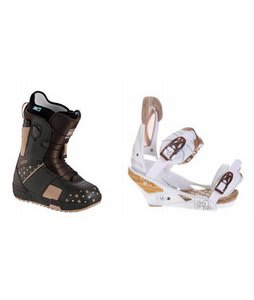 Burton Mint Snowboard Boots w/ Burton Escapade Bindings Natural White