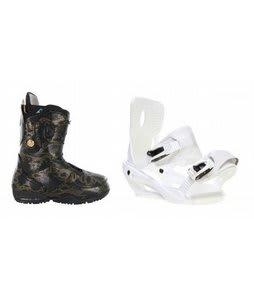 Burton Modern Snowboard Boots w/ Sapient Zeta Bindings White