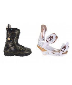 Burton Modern Snowboard Boots w/ Burton Escapade Bindings Natural White