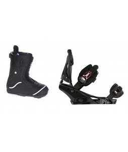 Burton Q Snowboard Boots w/ Burton Escapade Bindings Black Widow