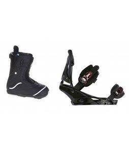 Burton Q Snowboard Boots w/ Burton Escapade Bindings Black Widow