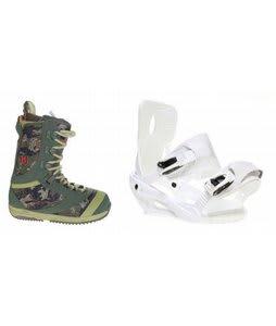 Burton Sapphire Snowboard Boot Green Sapient Zeta Bindings White