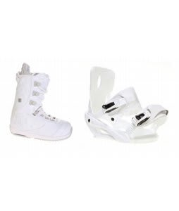 Burton Sapphire Snowboard Boot White/Lt Grey Sapient Zeta Bindings White