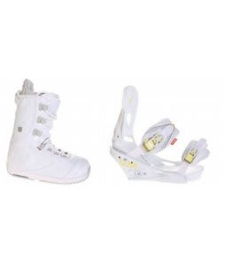 Burton Sapphire Snowboard Boot White/Lt Grey Burton Lexa Bindings White A Dot