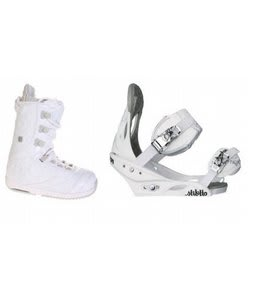 Burton Sapphire Snowboard Boot White/Lt Grey Burton Stiletto Bindings White