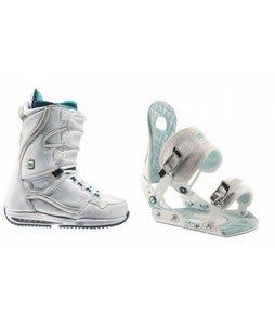 Burton Sapphire Snowboard Boots w/ Ride LXH Bindings White/Blue