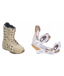Forum Aura Snowboard Boots w/ Burton Escapade Bindings Natural White