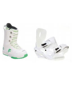 Forum Destroyer Snowboard Boots w/ Sapient Zeta Bindings White