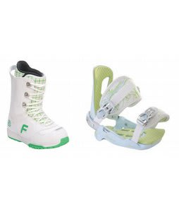 Forum Destroyer Snowboard Boots w/ Rossignol Zena Bindings White/Light Blue