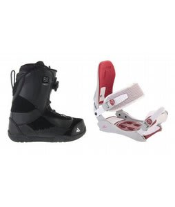 K2 Haven BOA Coiler Snowboard Boots w/ Technine JV Bindings Off White/Red